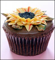 The most important meal of the day? A Large Chocolate Sunflower Cupcake, of course (courtesy of the New York Times)