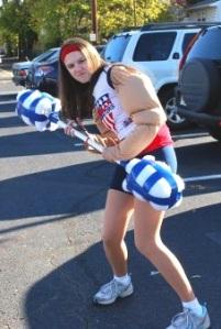 Tara is in it to win it as an American Gladiator on the run.
