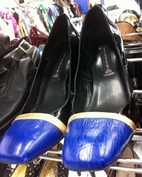 These stylish heels are sure to bring the color-blocking trend front and center once again.