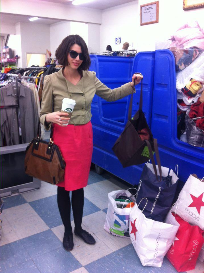 Introducing Erin, our #SpringFling winner, chic as ever as she makes her Goodwill donation!