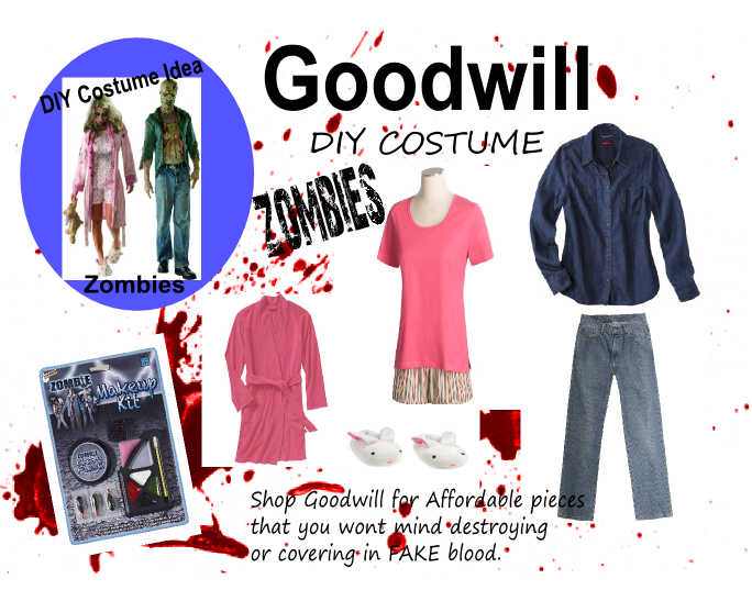 goodwill diy halloween costume idea ZOMBIES