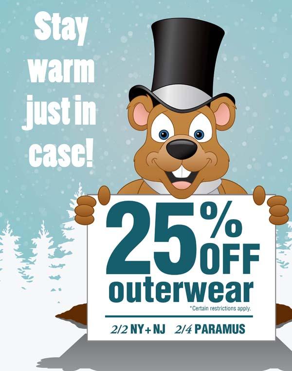 25% off outwear