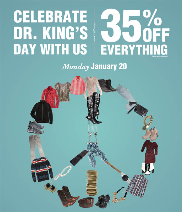 35% off everything on January 20