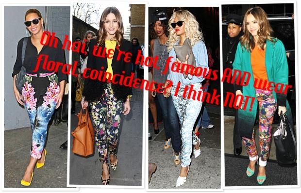 celebrities in floral