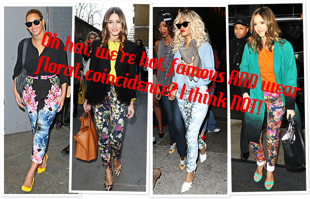 celebrities in floral
