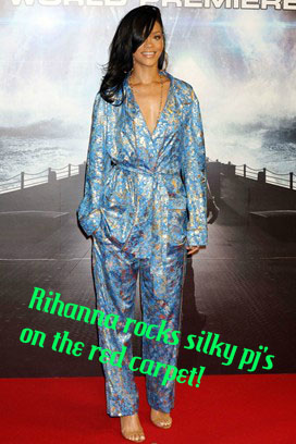 Rihanna silky pj's