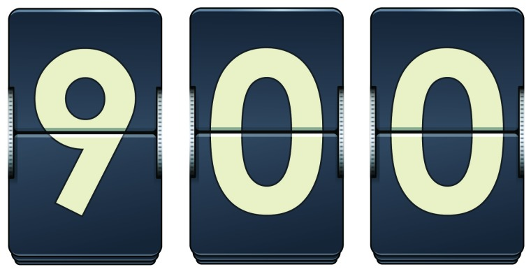 900th Blog Post Countdown