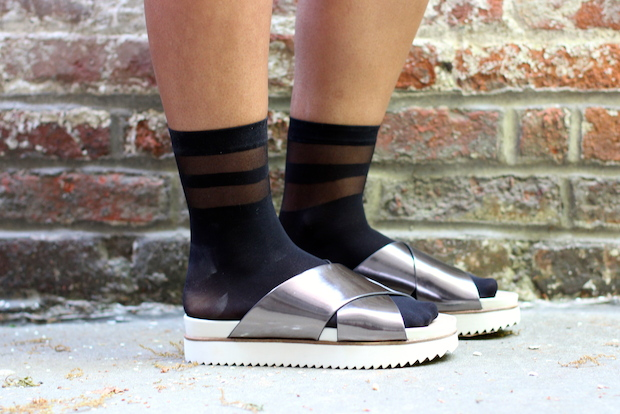 normcore socks and sandals
