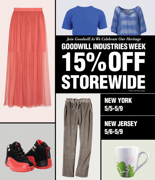 Goodwill Industries Week Sale
