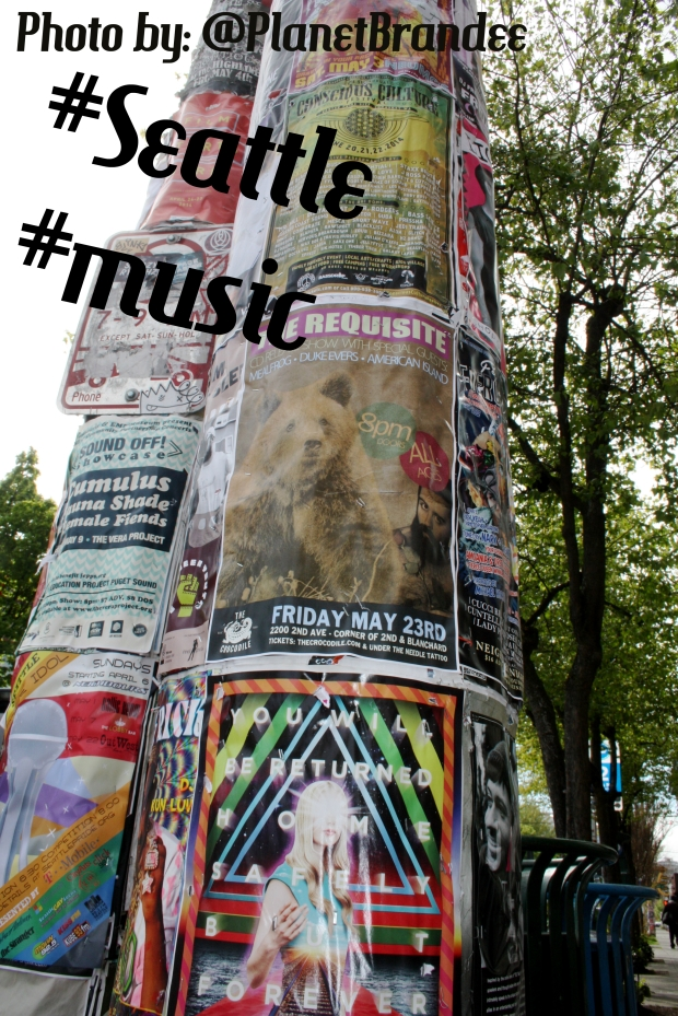 Music scene flyers