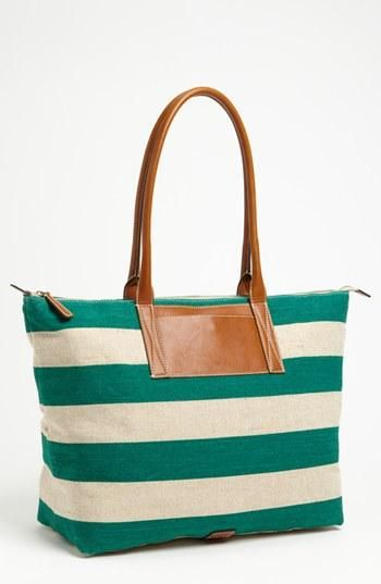 This pin from Nordstrom is the perfect sneaky beach bag. Cute on the beach and chic at night!