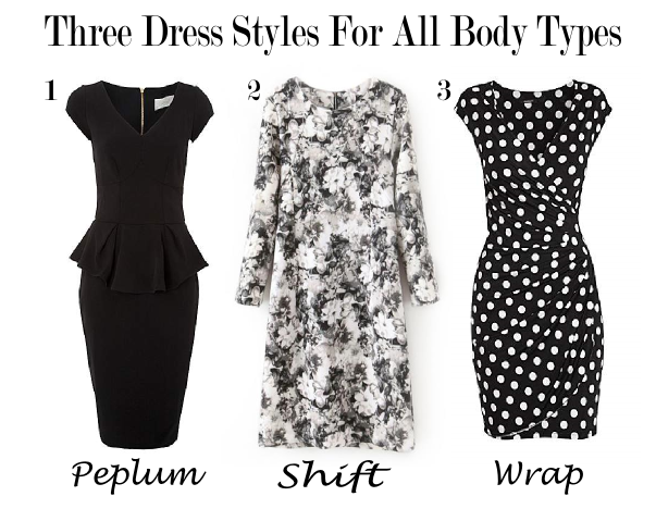 Peplum Shift and Wrap Dresses