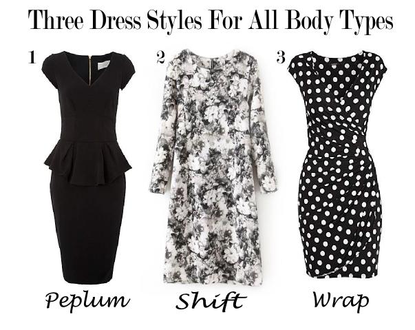 Peplum Shift and Wrap Dresses