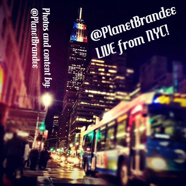 @PlanetBrandee LIVE from NYC