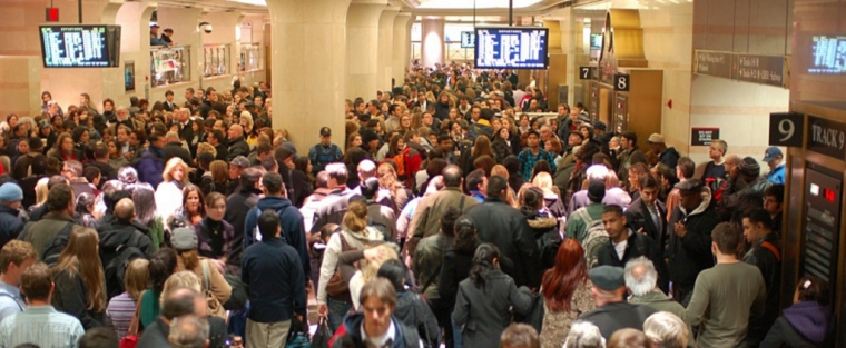 During the morning-commute at Penn Station there is QUITE a large crowd to people-watch