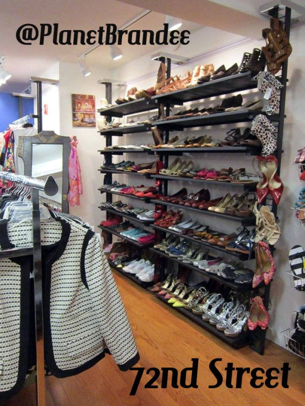 72nd Street Boutique shoe rack