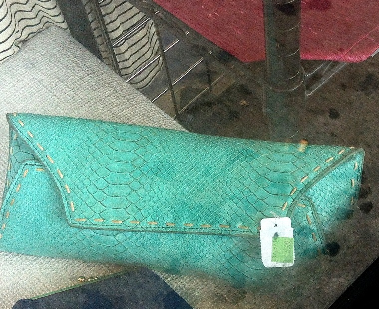 teal clutch purse