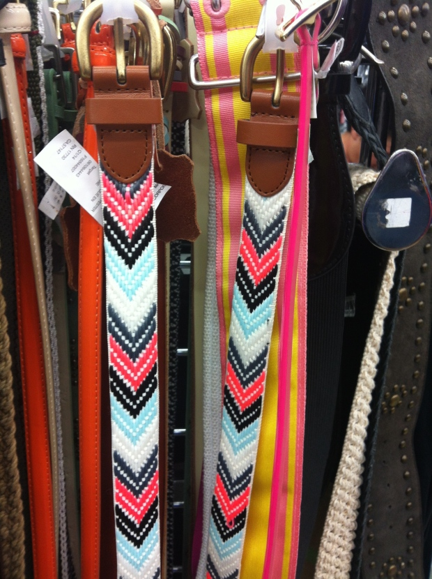 colorful embroidered belts
