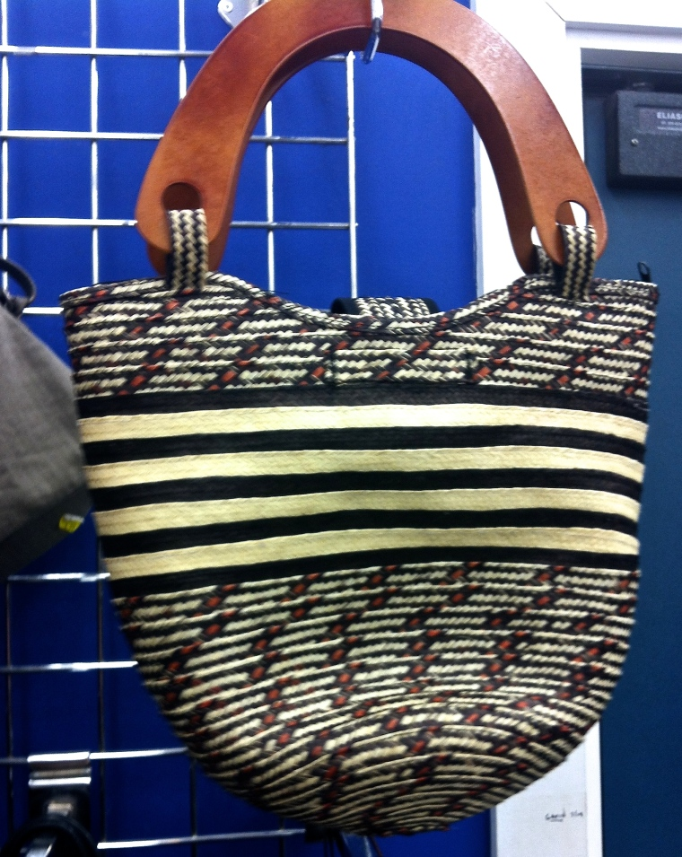 fabric bag with woven patterns