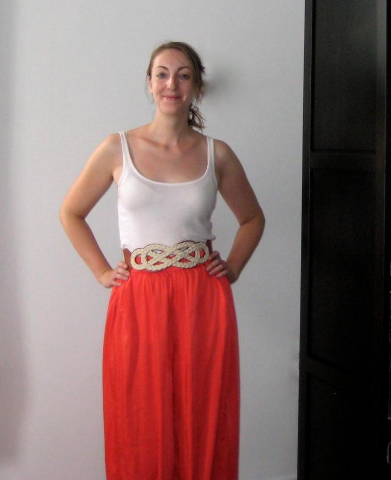 bright coral maxi skirt