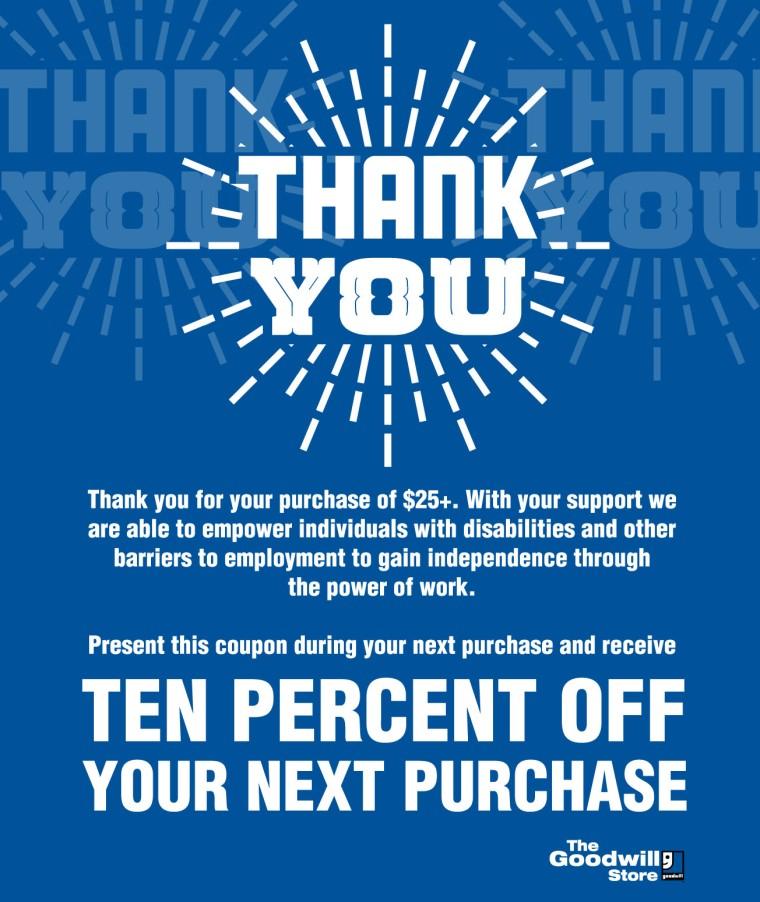 10% off future purchase