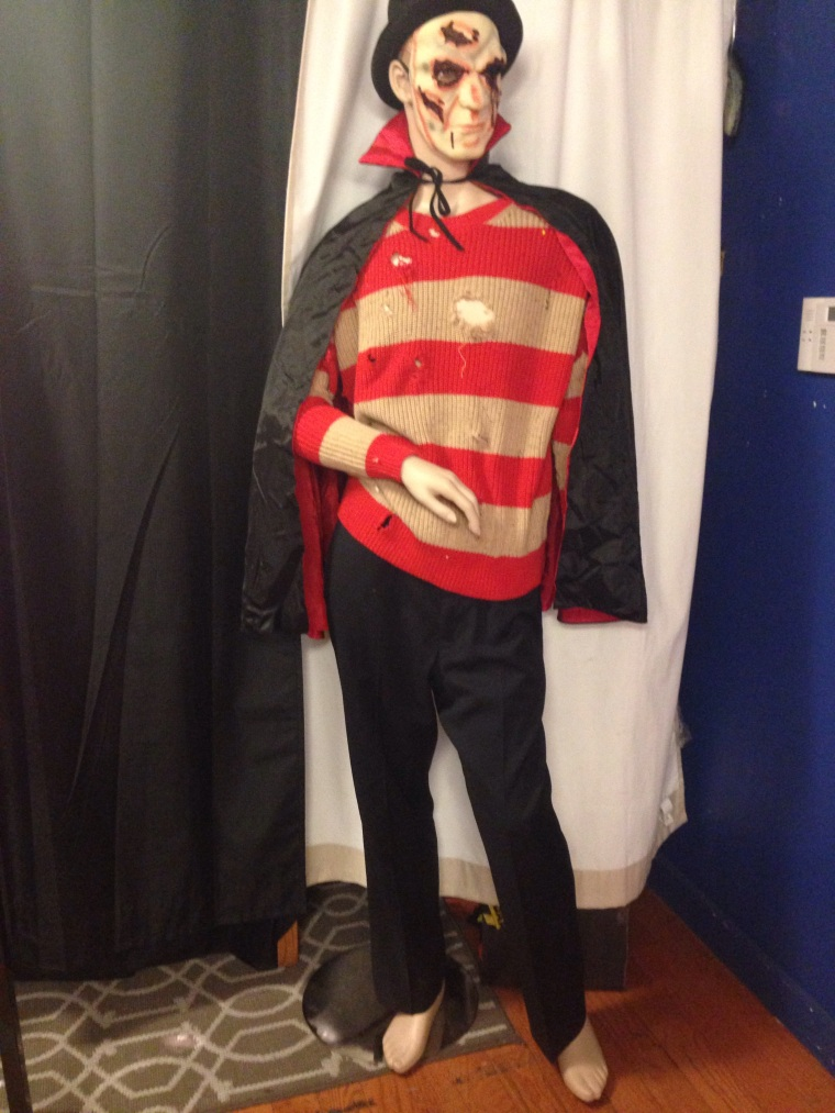 Mens Freddy Krueger Vampire Halloween costume
