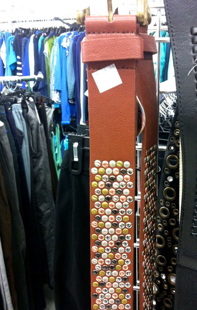 metallic studs on belt
