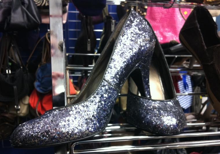 sparkling glitter heels
