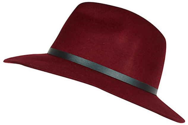 marsala wide brim hat