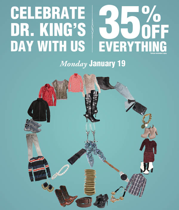 35% off everything on Monday 1/19