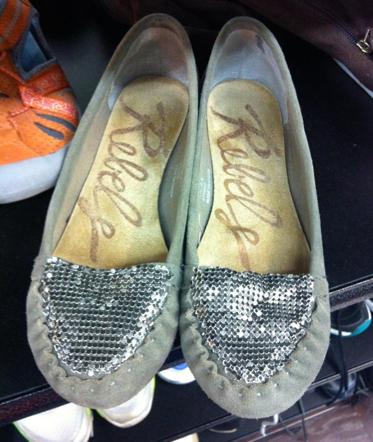 sequin fabric flats