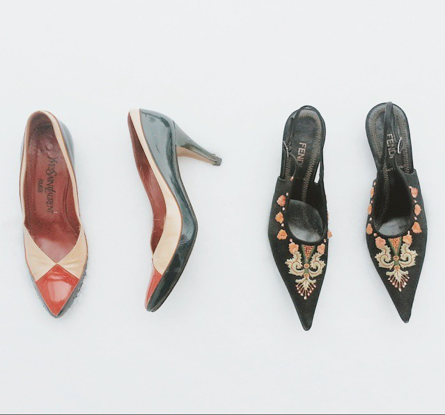 Yves Saint Laurent and Fendi heels