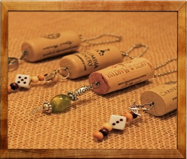 wine cork keychain