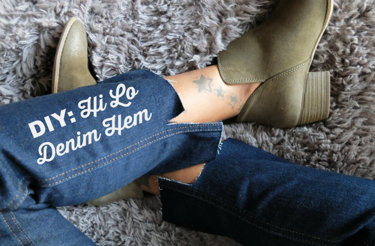 DIY Hi-Lo Frayed Denim Hem