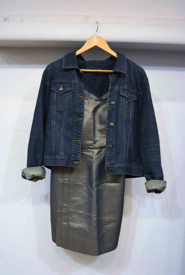 dress with jean jacket