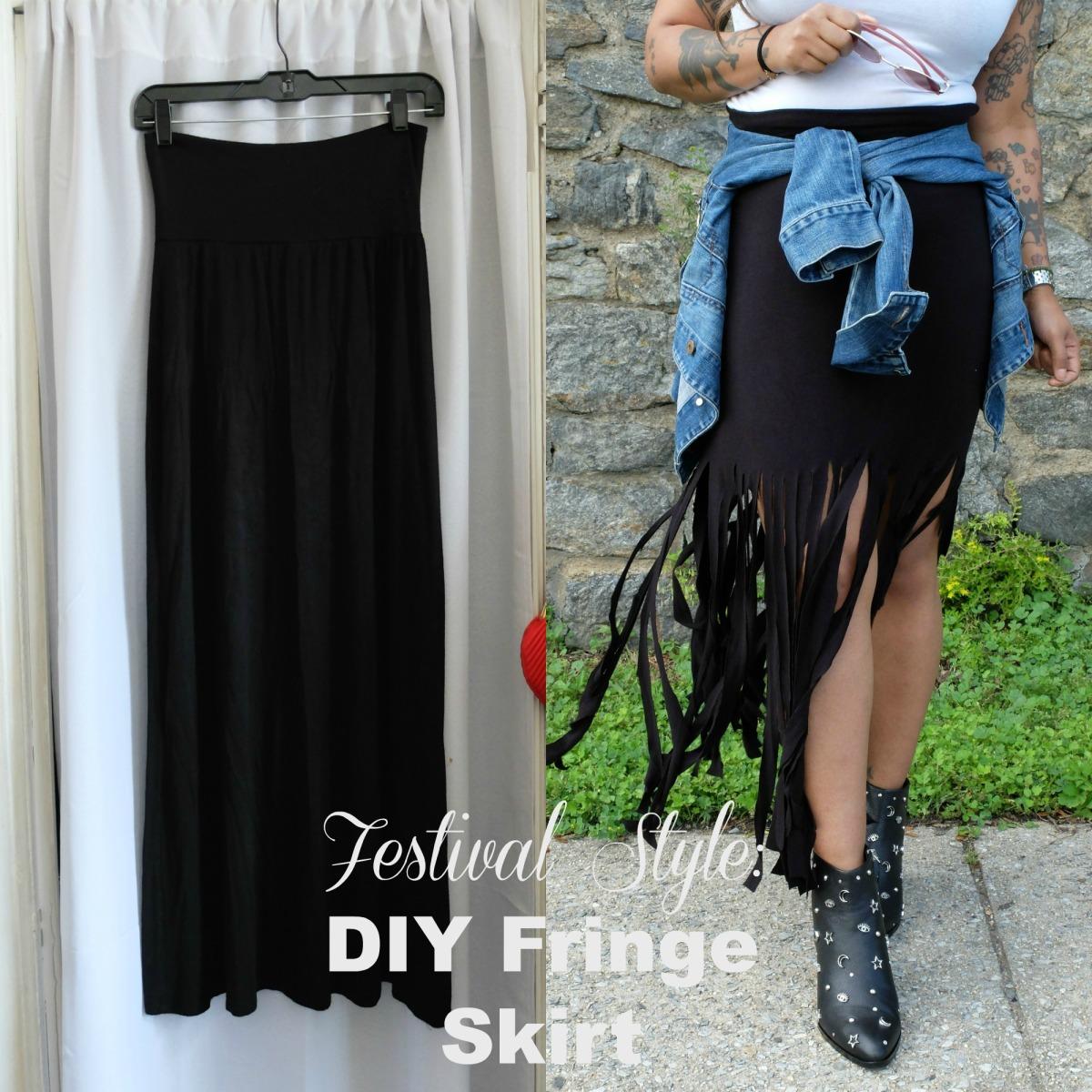 Festival Style: DIY Fringe Skirt w/ @thefabjunkie